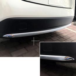2019 cubierta mazda espejo Estilo del coche 1 UNIDS ABS Parachoques Trasero Protector de deslizamiento cubierta de la moldura de la decoración de ajuste para Toyota Prius Prime PHV 2017 2018