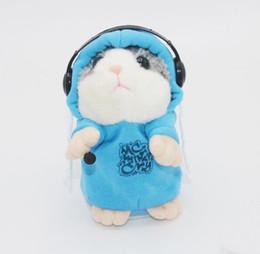 Lindo Falando Hamster De Pelúcia Brinquedo Bonito Falar Falando Gravar Som Hamster Azul de