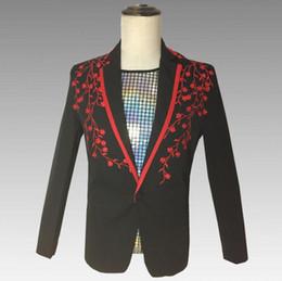 Trajes de dança para cantores on-line-Fino blazer homens ternos projetos jaqueta mens trajes de palco para cantores roupas dance star estilo vestido de punk rock masculino homme