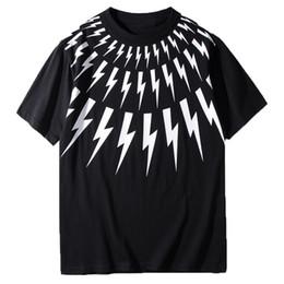 Argentina Cuero de lujo de la camiseta de diseño Negro White Lightning impresión de la manga del cortocircuito del verano mujeres de los hombres T Shirts Unisex Tees tamaño S-XXL Suministro