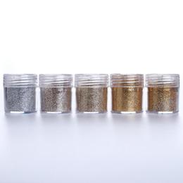 Arte do prego do champanhe on-line-10 ml Champagne Prata Prego Em Pó 5 Cores Shinning Manicure Chrome Pigmento Poeira Glitter Nail Art Decoração Acessório