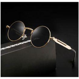 tons redondos para homens Desconto Vidano Optical óculos de sol steampunk do vintage para homens e mulheres retro rodada designer de óculos gothic punk shades oculos de sol