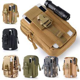 Pequeño paquete de cintura impermeable online-Molle Pouch Waist Bag Camo Waterproof Nylon Multifunción Casual Men Fanny Waist Pack Male Small Bag Funda para teléfono móvil