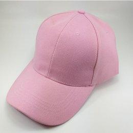 2019 Бейсболка женская мужская регулируемая кепка Повседневные шляпы для отдыха Сплошной цвет Мода Snapback Летняя шляпа от солнца от Поставщики одежда для взрыва