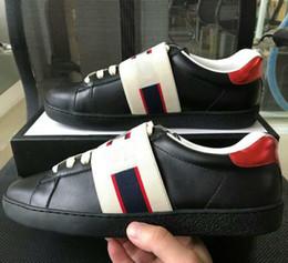 Bande ronde en Ligne-Designer de mode Casual ACE chaussures rouge bande noire jacquard bande élastique baskets noires pour hommes femmes grande taille 35-46