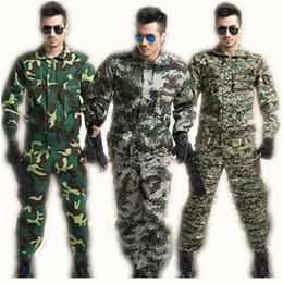2019 taktischer kampfanzug Taktische Militärische Uniform Langarm Tarnanzug Militärische Kampfkampf + Hose Kostüme Herrenbekleidung Sets C18122701 günstig taktischer kampfanzug