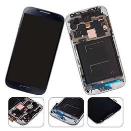 Жк-дисплей с сенсорным экраном galaxy s4 онлайн-Замена экрана лкд галактики С4 СИВ новая с рамкой (моделями ГСМ - Т-мобиле М919 АТТ И337)Цифрователь экрана касания дисплея полного набора