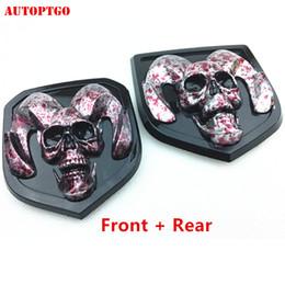 Car & Truck Exterior Mouldings & Trim 2x 3D Matte Black Skull ...