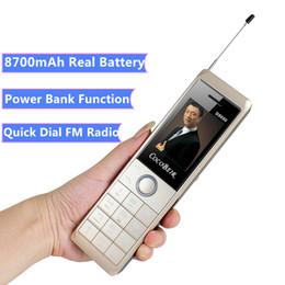 grande bateria smartphone Desconto Telefone móvel à moda antiga D9000 2.6 Polegadas 8700 mAh Super banco de potência da bateria celular lanterna MP3 Rádio FM Retro Música telefone grande botão