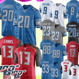 Tampa trikots online-20 Barry Sanders 23 Darius Slay 9 Matthew Stafford Detroit # Lion Jersey 13 Mike Evans Tampa # Bay Mens Buccaneer Jersey 88 T. J. Hockenson