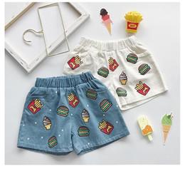 Canada Enfants denim shorts garçons crème glacée article de Hambourg imprimé jean shorts filles double poche élastique pantalon court occasionnel Offre