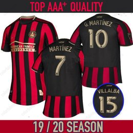 mls maglie Sconti 19 20 mls Soccer Jerseys 18 19 Atlanta United FC # 10 Almiron # 7 Martinez Soccer Shirt 2019 2020 atlanta united jersey Uniforme da calcio