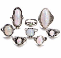 anillo de diamantes de cristal swarovski 18k Rebajas 40 unids / lote joyería de moda mixta surtido de imitación de aleación de ópalo anillos de metal joyería para mujer hombre