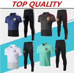 Jerseys polo online-Camiseta POLO 2018 de la Copa del Mundo de Portugal 2018 18 19 Argentina España Alemania Polo Fútbol Camiseta deportiva