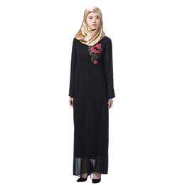 Одежда дубай онлайн-Velvet Abaya Dubai Tassel Embroidery Dubai Women Muslim LongSleeve Arab Dress Islam Abaya Jilbab Dress Fashion Robe Z411