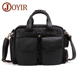 2f1d5e1e9403 JOYIR 100% Genuine Leather Men s Briefcases for Male Business Handbags  Causal 15