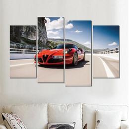 amerikanische indische malereien Rabatt 4 sätze leinwanddrucke alfa romeo spec rote malerei wandbilder für wohnzimmer dekoration