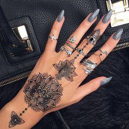 Rabatt Schwarze Henna Hand Tattoos 2019 Schwarze Henna Hand