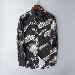 2019 chemises à col haut ajustées pour hommes FET22 haut de gamme de qualité homme chemise manches longues col tailleur Temps libre mens occasionnels amincissent 0722 chemises à col haut ajustées pour hommes pas cher