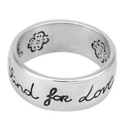 2019 jóias de amor para casais Cego para o amor de Luxo Designer de Jóias Mulheres Anéis Dos Homens de Moda de Prata Esterlina Casal Anel de Noivado de Casamento Do Vintage Anel gg jóias de amor para casais barato