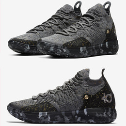 543ace63d369 Top quality KD 11 Casual Shoes Gold Splatter Kevin Durant 11s Designer  Multi-Color Metallic Gold Men shoes size 7-12
