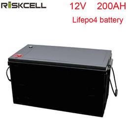 fora da grade solar Desconto Sem impostos LiFePO4 12V200Ah bateria de fosfato de ferro de lítio para RV, Solar, Marinha, aplicações fora da rede, GolftCart, peso leve