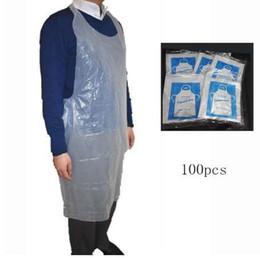 100 piezas de cocina de limpieza desechables delantal de plástico transparente impermeable delantal productos de limpieza del hogar accesorios de cocina desde fabricantes