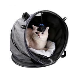 túneis de gato Desconto Multifuncional Cat Carrier Portátil Cama Dobrável Cat Túnel Com Formas mutáveis Brinquedos Mat Docador Dobrável Pet Transportadora