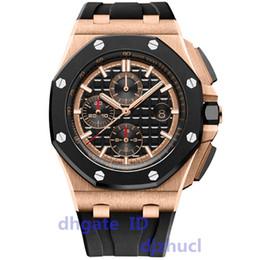Relógio do esporte do silicone dos homens on-line-mens de luxo relógios para homens VK cronologia movimento de quartzo ROYAL CARVALHO de série mens relógios 15400 pulseira de borracha mens esporte relógios