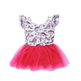 mini-karikatur-dinosaurier Rabatt Baby Mädchen Kleider Cartoon Kleine Dinosaurier Gedruckt Kleid Kleine Prinzessin Kleid Kurzarm Kleid GirlsDresses 18