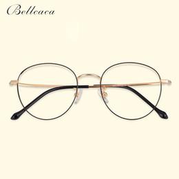 b77aad0191 Bellcaca Pure Titanium Spectacle Frame Women Vintage Round Eyeglasses  Computer Optical Clear Lens Eye Glasses Frame Female BC796