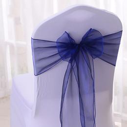 YRYIE 50 Unids / lote Organza Cinta Sillas De La Silla Del Arco Lazos De La Silla Decoración Para Sillas Banda De Navidad Eventos Fiesta Royal Blue desde fabricantes