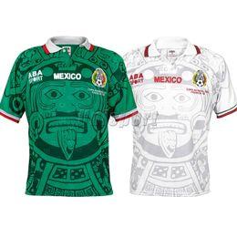72d14ab9b7895 S-XXL Weltmeisterschaft 1998 Retro Mexiko Fußball Trikots Zidane Henry  Vintage Futbol Camisa Fußball Mexikanischer Camisetas Hemd Kit Maillot