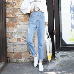 2019 Light Blue Jeans Trousers Women Casual Denim Pants Spring Female Zipper  High Waist Sashes Jeans Trousers Vaqueros Mujer от