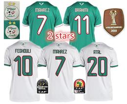 2019 valencia casa cf 2019 2 estrelas Campeonato Africano de Futebol Argélia casa longe AFCON Mahrez Feghouli BRAHIMI BOUNEDJAH BOUAZZA 19 algerie JERSEY camisas de futebol