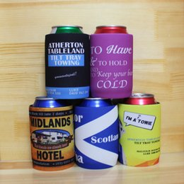 soporte del refrigerador rechoncho Rebajas 100pcs Sublimate Stubby Holders Australia Wedding Neoprene Can Cooler Enfriadores personalizados Stubbie para negocios Latas de cerveza