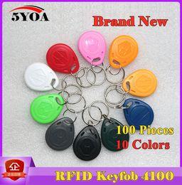125khz rfid бесконтактная карта Скидка 100Pcs EM4100 125khz ID Keyfob RFID Tag Tags llaveros llavero Porta Chave Card Sticker Key Fob Token Ring Proximity Chip