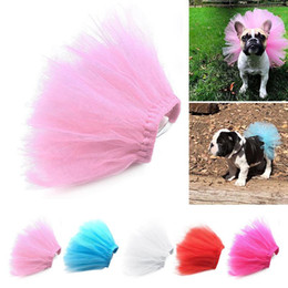 dogs tutu clothes Promo Codes - New Summer Princess Pet Cat Wedding Dress Sweet Dog Mesh Skirt Solid Clothes Pet Tutu Skirt Sexy Design Clothing