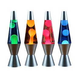 diy estrela projetor luz noturna Desconto Base de Alumínio Lava Depilação Lâmpada Líquida Colar de Luz Inovador Decoração Cônica Luz Água-viva Quarto Noite