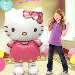 Kt spielzeug online-NEUE Design Cartoon Folienballons Kinder KT Katze Geburtstag Hochzeit Baby Shower Air Aufblasbare Spielzeug Bälle Weihnachten Kinder Dekoration