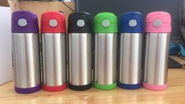 Botella de 12 ml online-12 oz de acero inoxidable de doble pared de rebote Taza de la taza del vacío niños con aislamiento botella de agua de la taza de café portátil A02