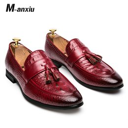 M anxiu Luxus Mode Männer Quaste Schuhe Leder Italienisch Formal Schlangen Haut Kleid Büro Schuhe 2019 die neue Entwurf