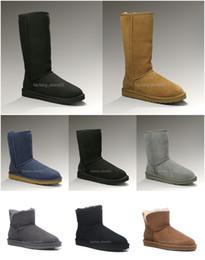 Pantalones cortos de pvc online-2020 Moda Hombres Mujeres Clásico botas de nieve largo del tobillo arco corto botas de piel de diseño para el Negro Castaño invierno de arranque zapatos ocasionales de la plataforma 35-45