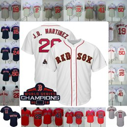 770017b9b baseball jerseys sale Promo Codes - Cusom Red Sox Majestic White 2019 Gold  Program Jersey Boston