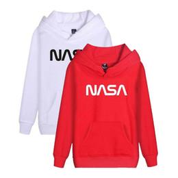 Rojo azul blanco con capucha online-Para hombre Hip Hop sudaderas con capucha blanca para hombre Rojo Azul Negro sudaderas diseñador de la marca Imprimir sudaderas sudaderas de Invierno tamaño S-3XL