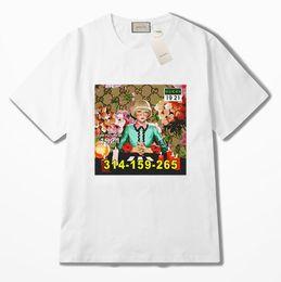 Canada Été de luxe en Europe femmes modèle imprimé fille Crew Neck t-shirt de haute qualité coton mode t-shirts designer femmes Casual manches courtes cheap girls high neck t shirt Offre