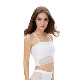 82a13d85024 2019 Summer Sexy Lace Tops Women Crop Top Crochet Lace Neck Spaghetti Strap  Backless Tank Camisole Bralette  25