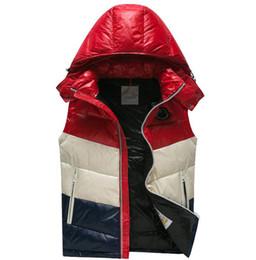 Luz encapuchada online-Moda pato abajo chaleco Chopping Mens diseñador chaquetas caliente de alta calidad de lujo con capucha delgada y ligera con cremallera diseñador chaleco más el tamaño 1-5