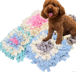 interactive puppy toys Coupons - Pet Puzzle Toy Dog Sniffing Pad Sniffing Blanket Creative Dog Cat Consume Physical Chew Toys Creative Puppy Teddy Interactive Toy