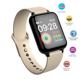 montre intelligente bluetooth fitbit Promotion B57 montre intelligente fitbit Bluetooth fréquence cardiaque Pression artérielle Détecteur d'oxygène dans le sang Réveil Hommes Sport smartwatch Wearable Watch